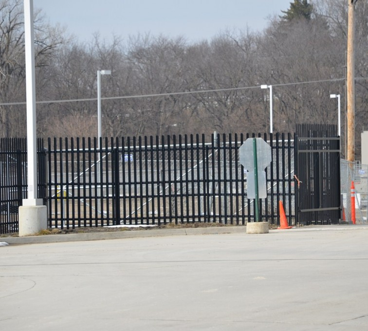 Des Moines Fence Company - K-Rated Vehicle Restraint Systems Fencing, 8' Crash Rated Ornamental Impasse 3 - AFC - IA