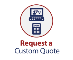 Request a Custom Quote. Image of a laptop and a calculator inside a circle.