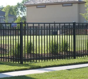 Sioux City fence company installation: ornamental iron